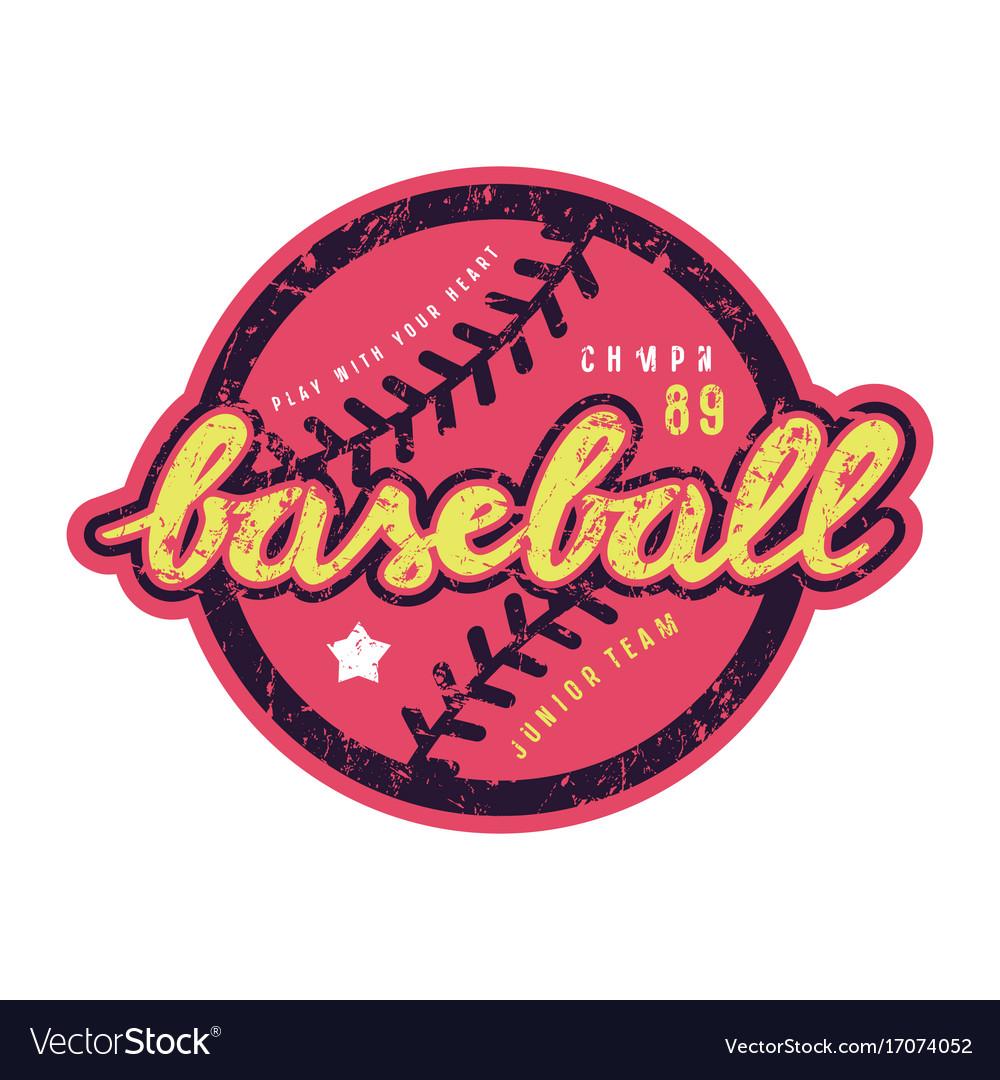 Emblem of baseball team vector image