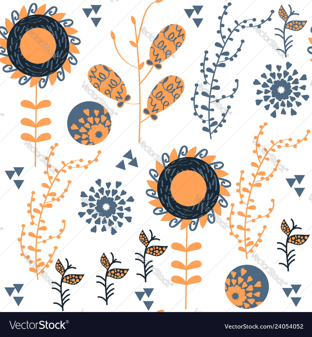 Floral elegance seamless pattern it is located in