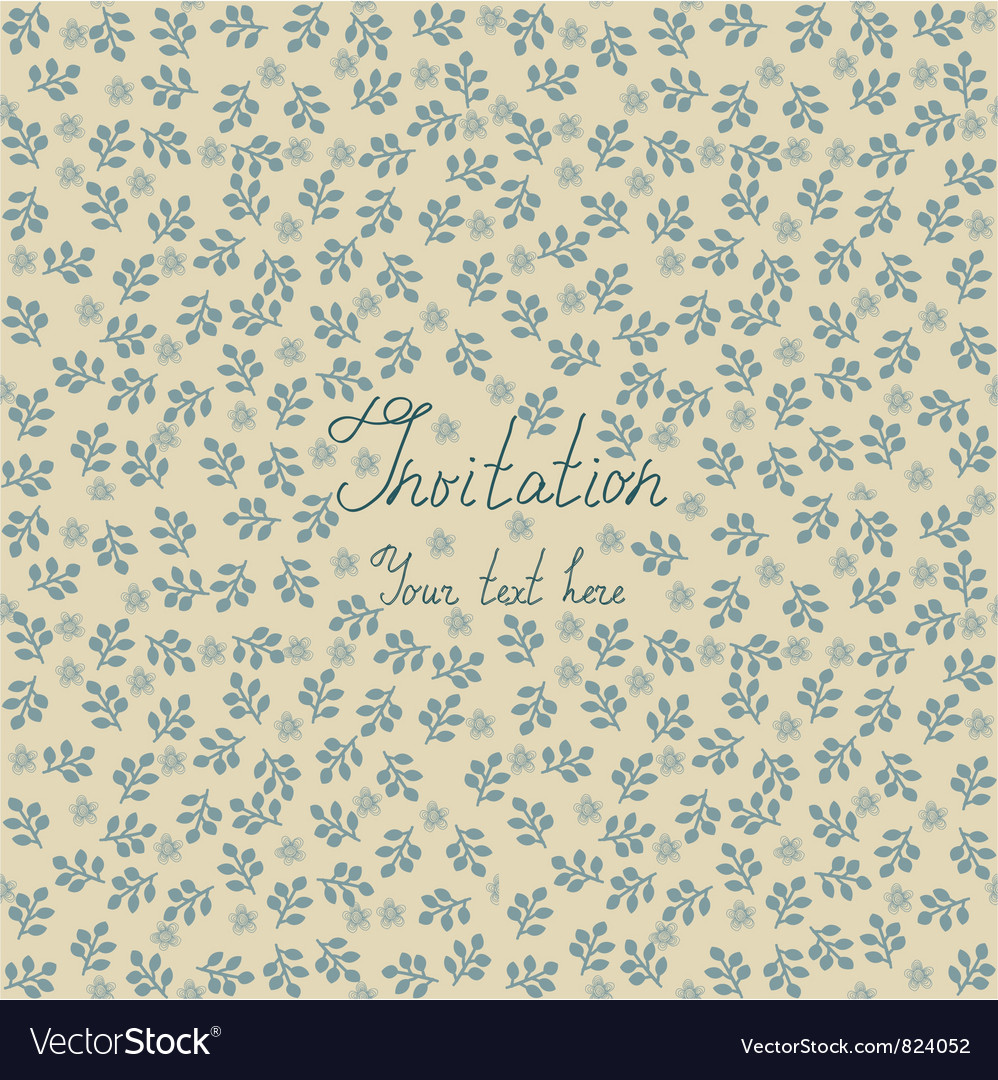 Floral invitation background royalty free vector image floral invitation background vector image stopboris Image collections