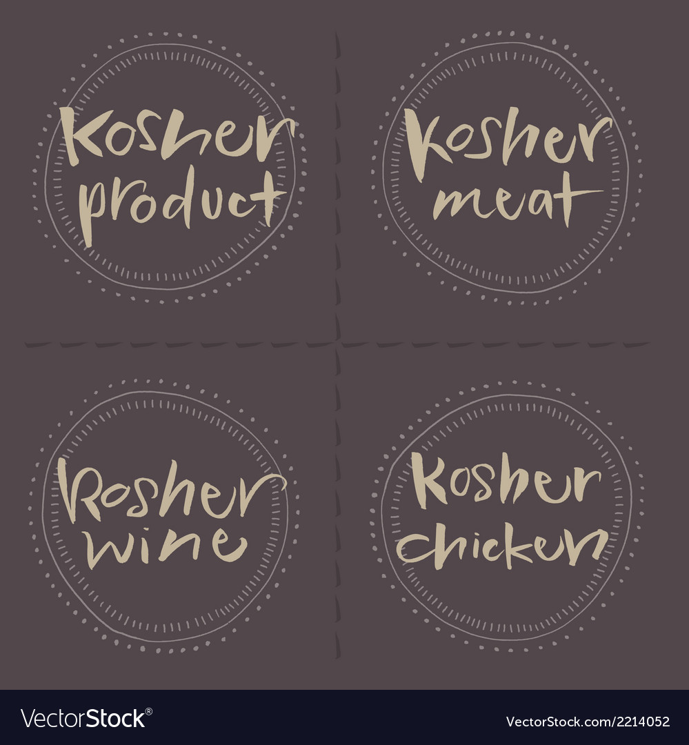 Kosher Products Food Labels vector image