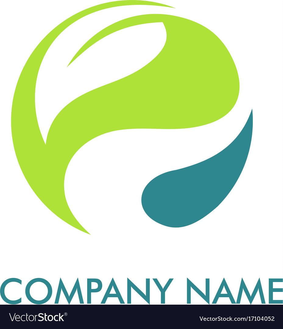 Leaf round environment logo
