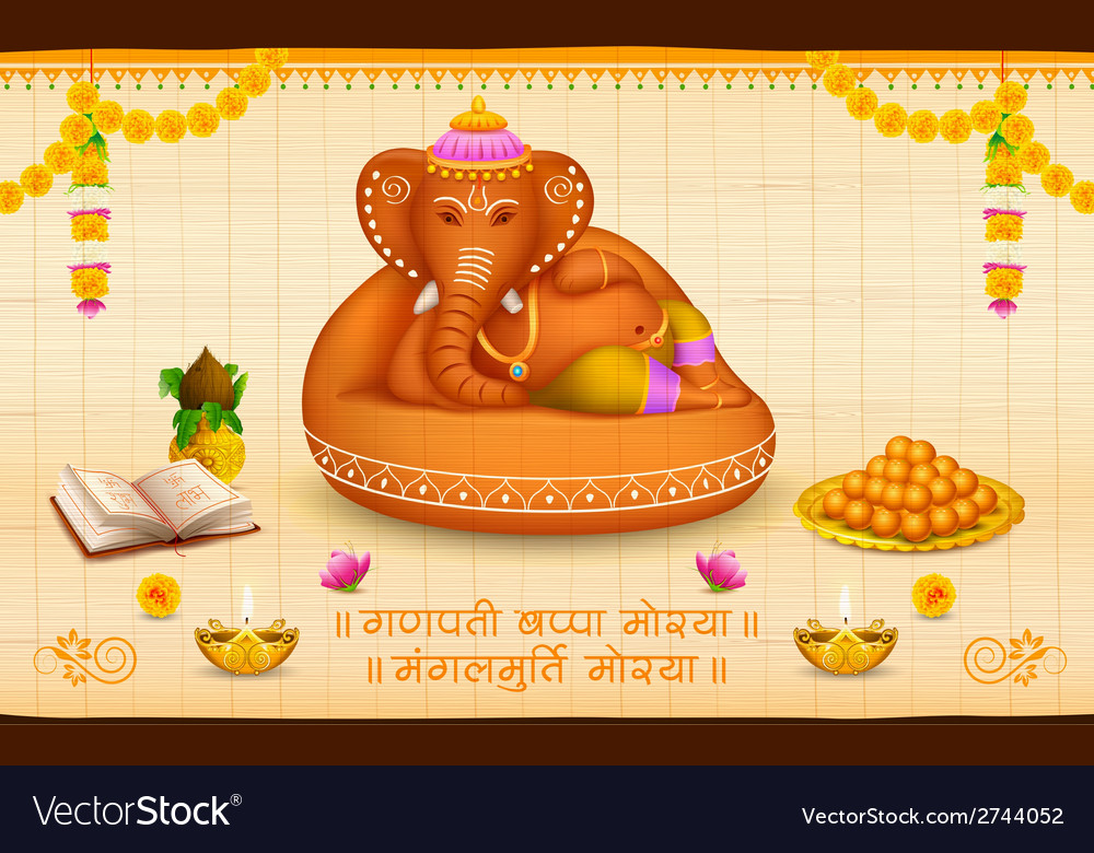 Lord Ganesha made of clay Ganesh Chaturthi vector image