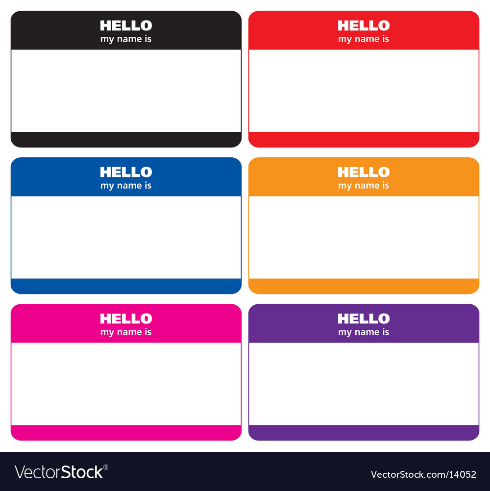 Name tags vector image
