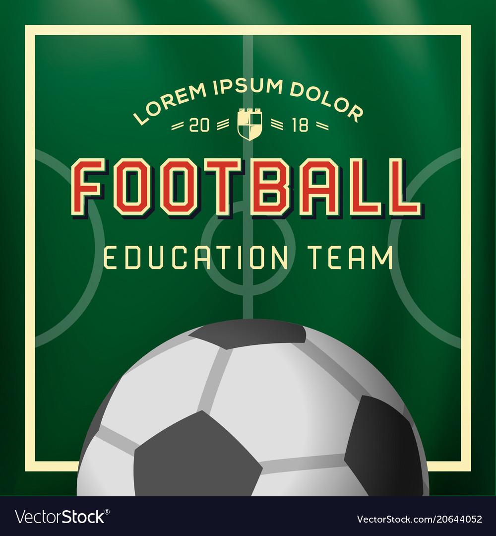 Soccer football background education team