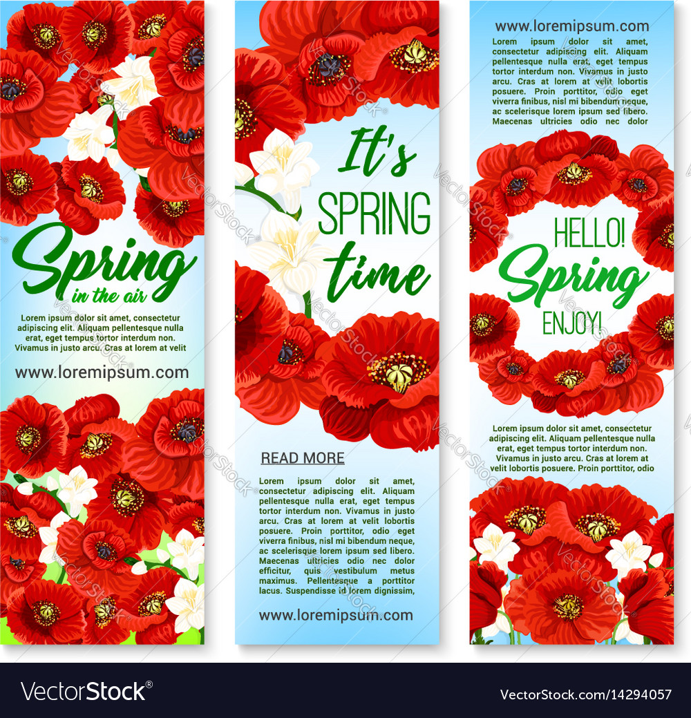 Banners for happy spring holiday greetings
