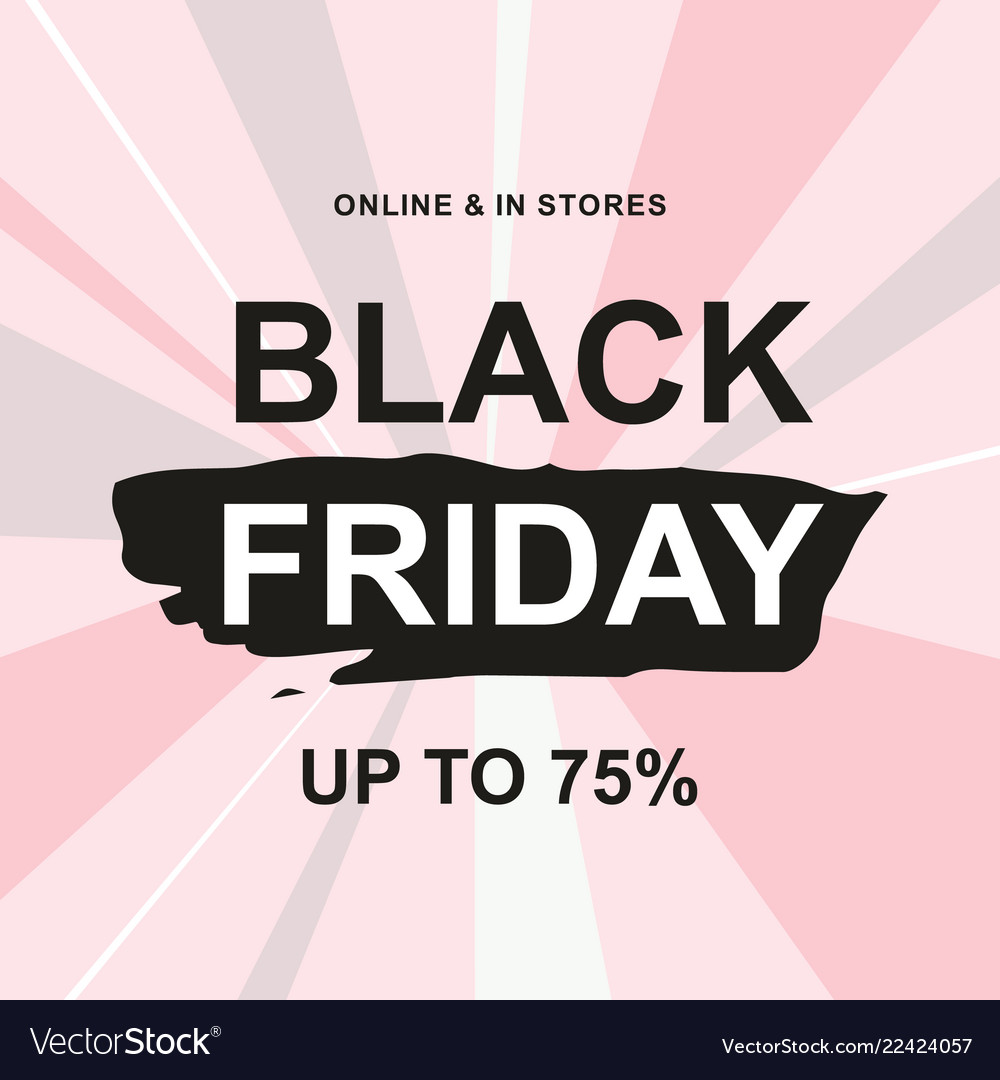 Black friday sale web banner design template