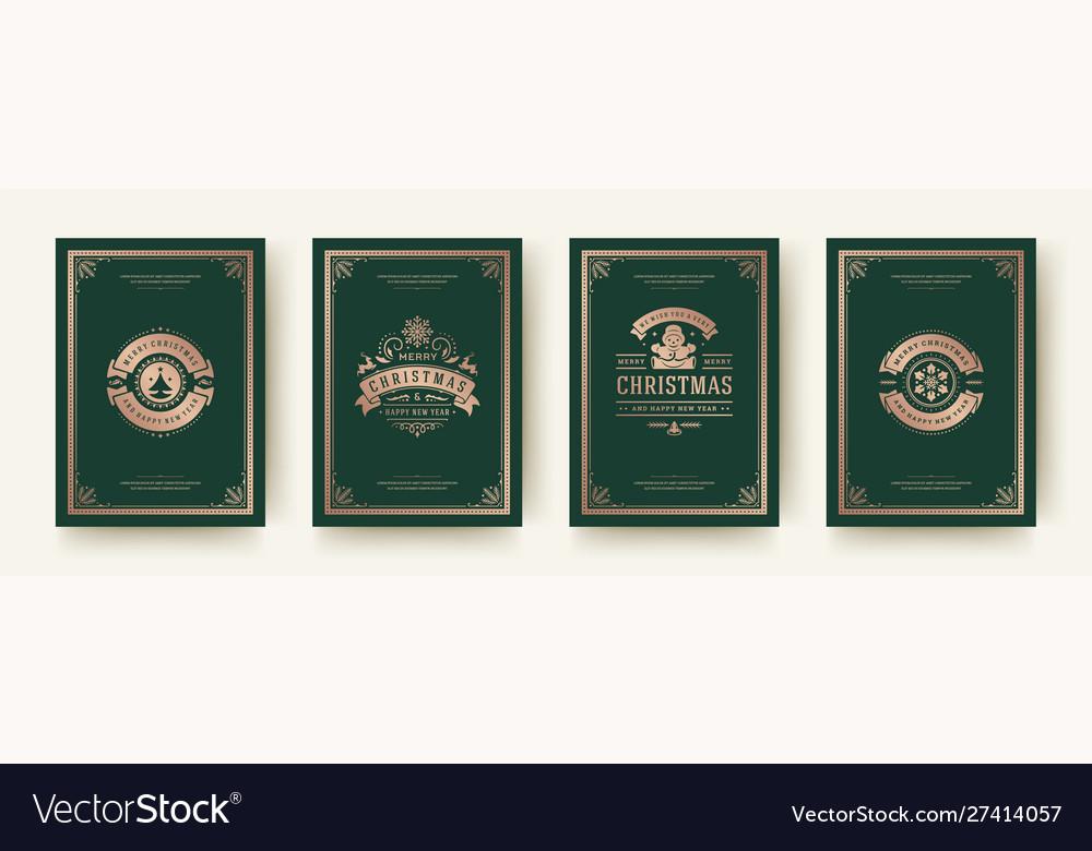 Christmas greeting cards vintage design ornate