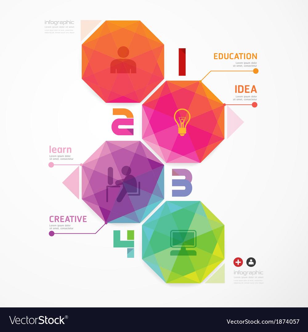 Geometric colorful Modern Design vector image