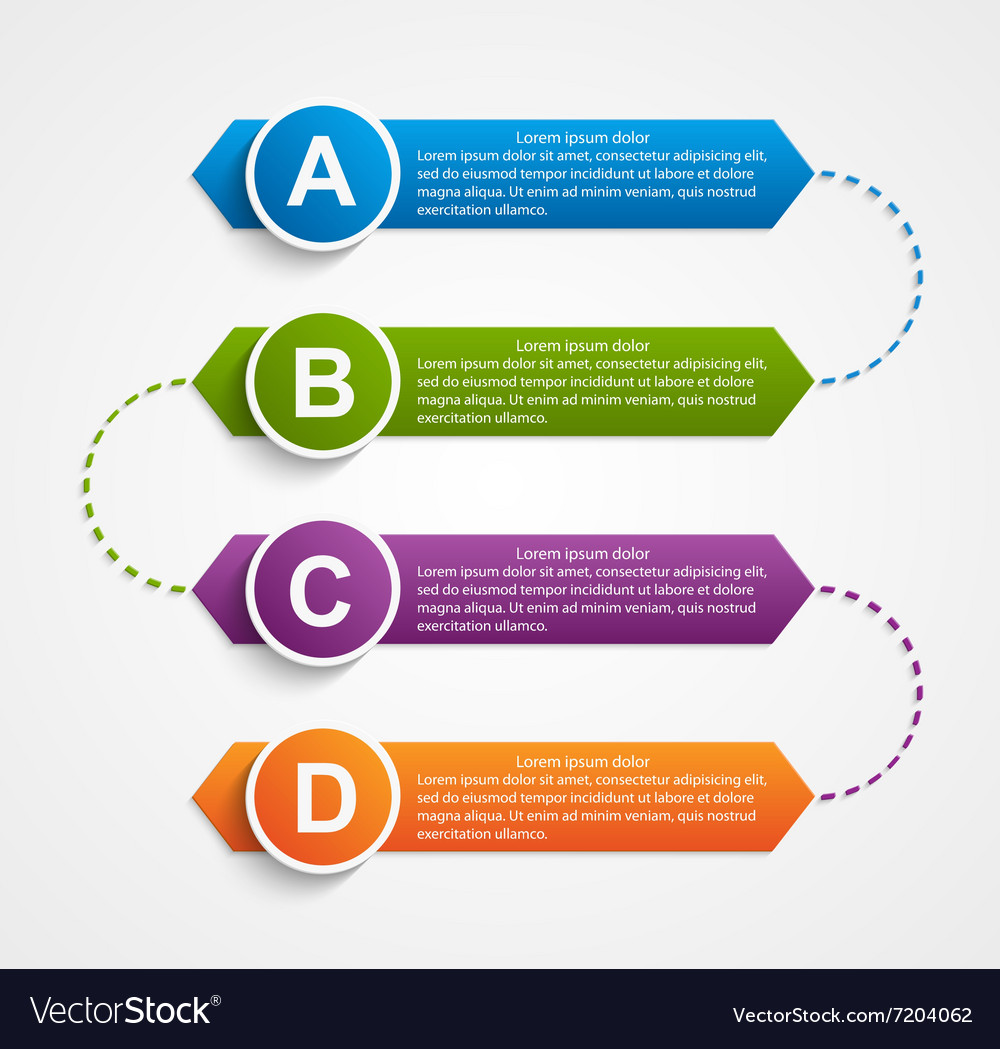 Abstract infographics design template vector image