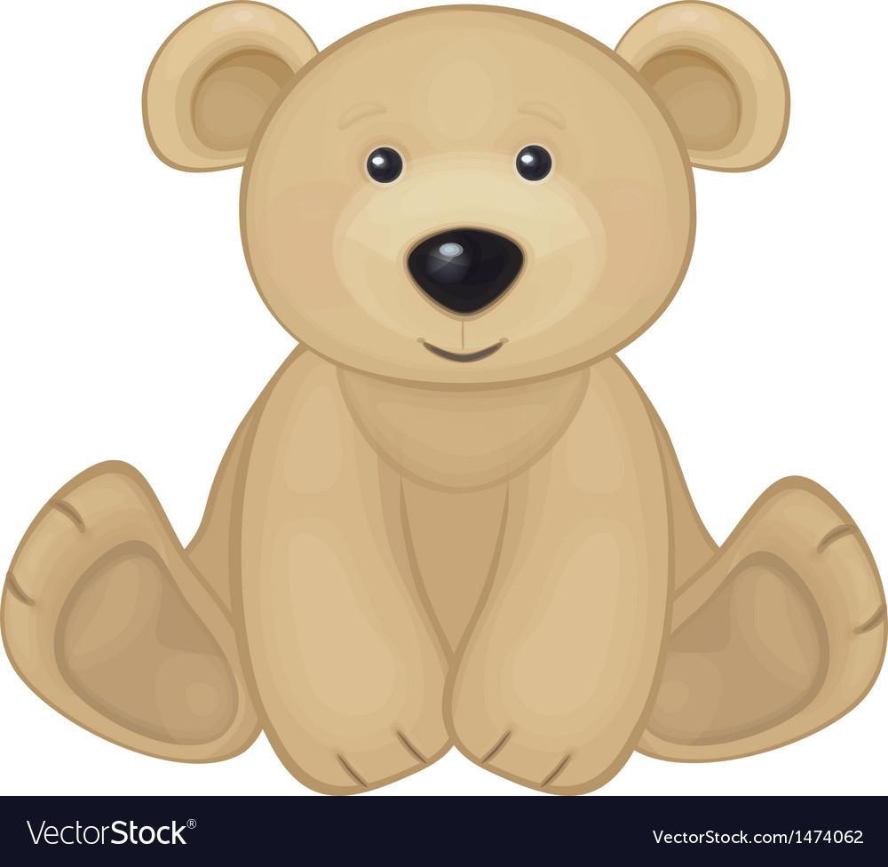 Bear sit vector image