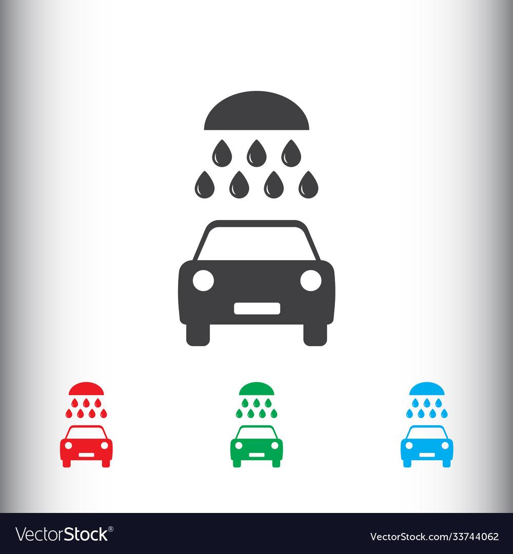 Car wash icon sign icon wash symbol flat