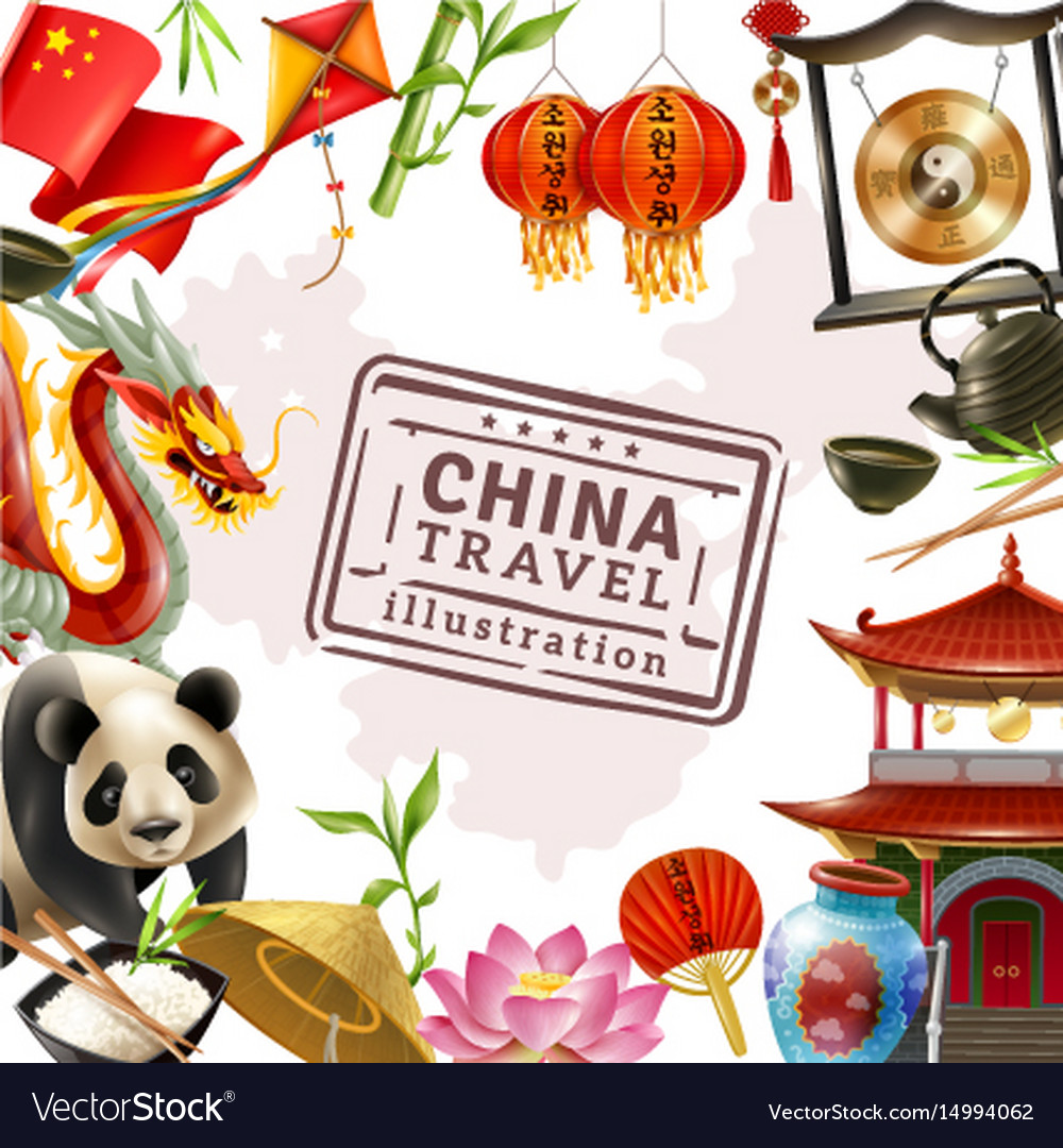 China travel frame background
