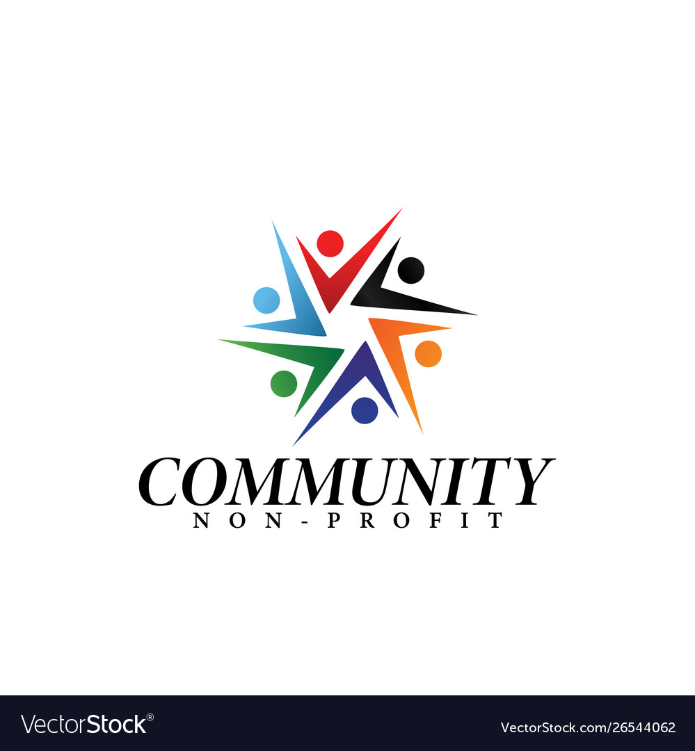 Community logo design template isolated