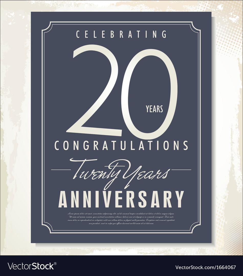 20 years anniversary background