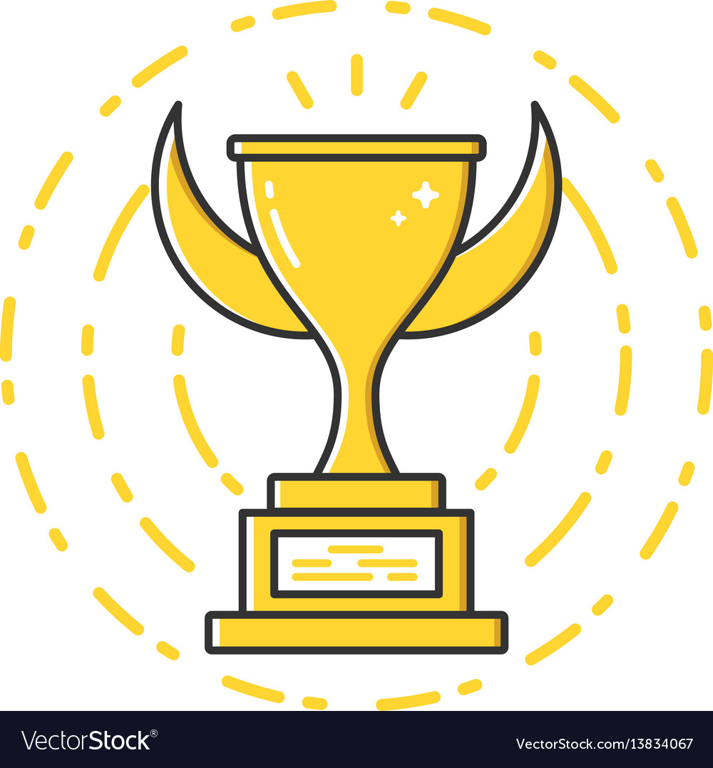 Business of gold award cup vector image