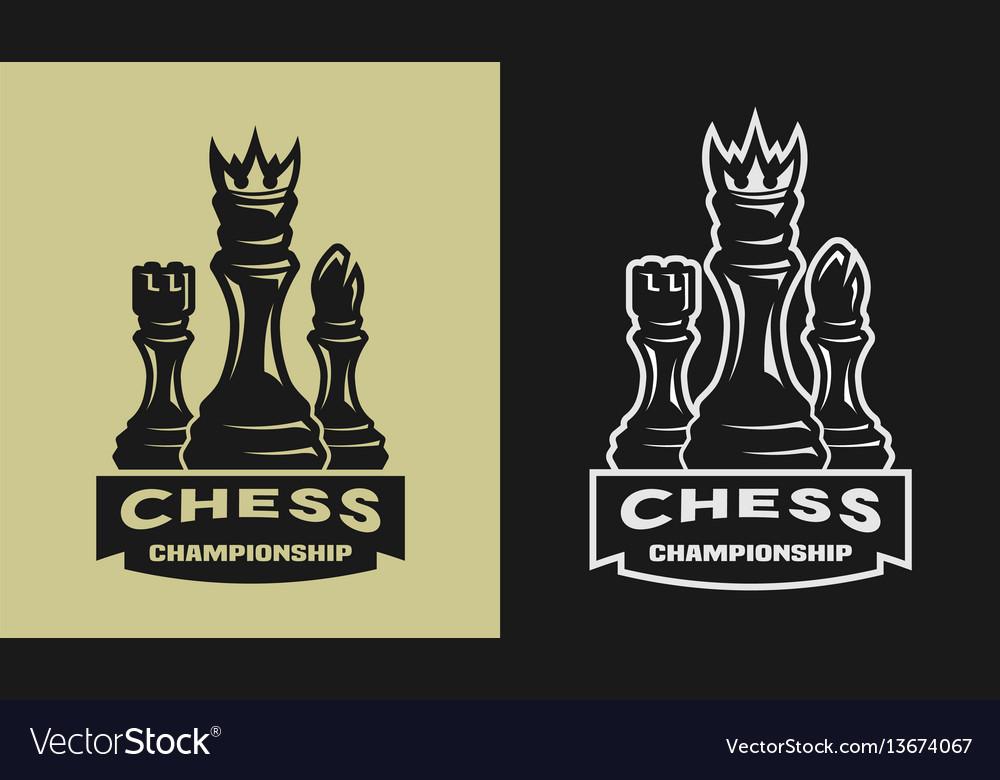 Chess game championship emblem logo