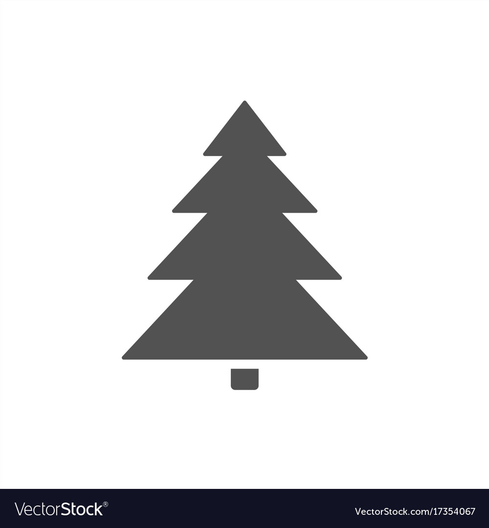 Christmas tree icon on a white background vector image