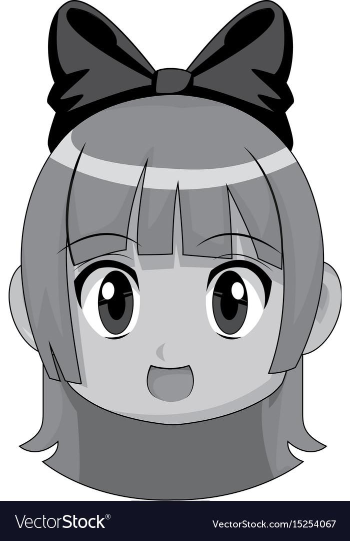 Cute Cartoon Anime Chibi Girl Image Royalty Free Vector