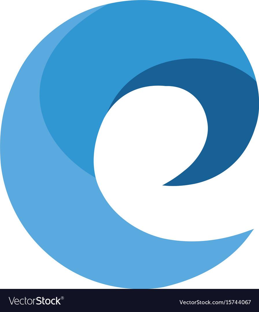 E modern business letter logo design