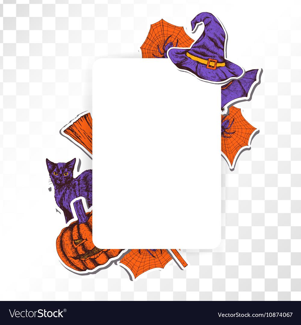 frame halloween on transparent background vector image