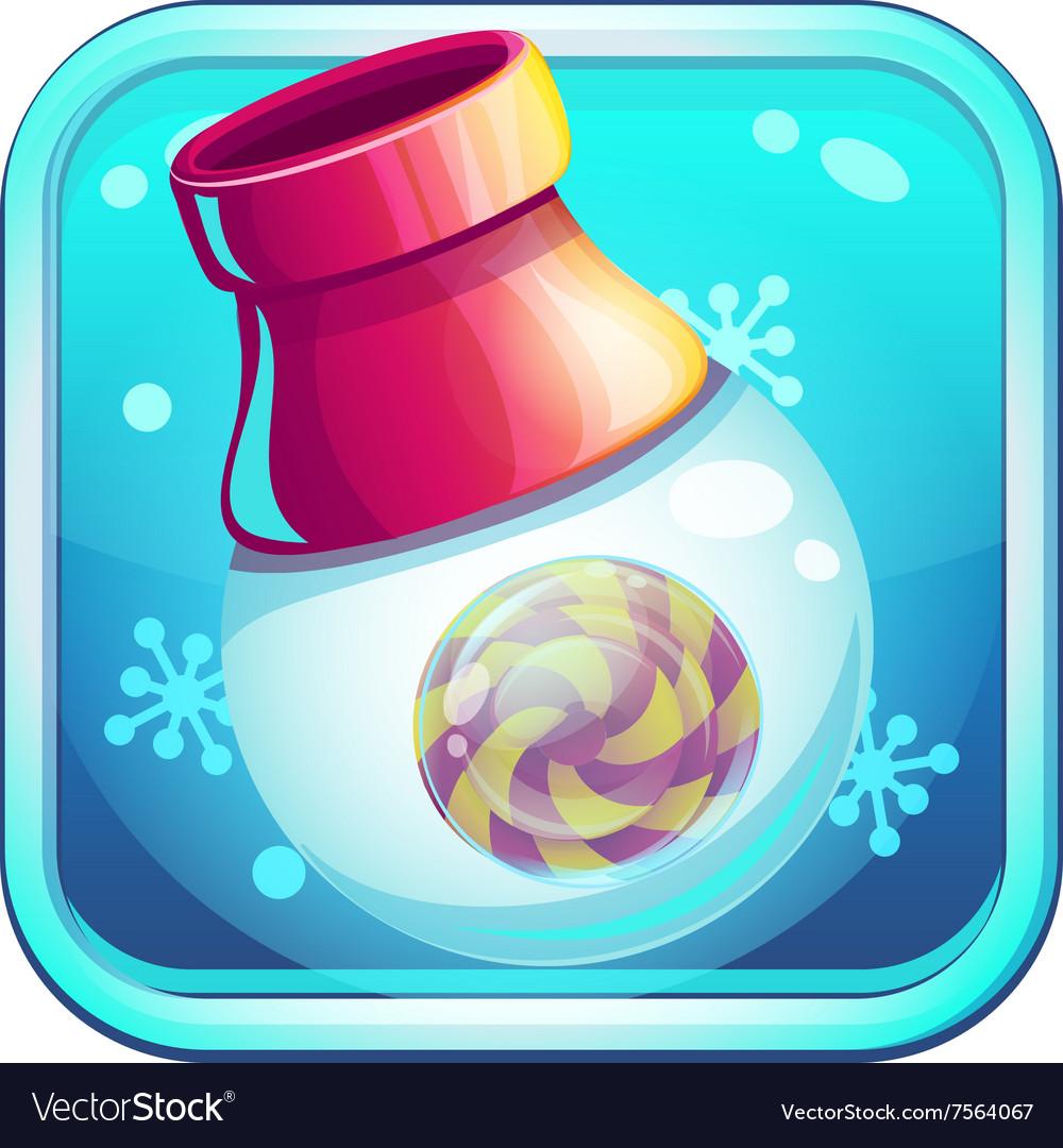 Icon candy caramel gun for computer game vector image