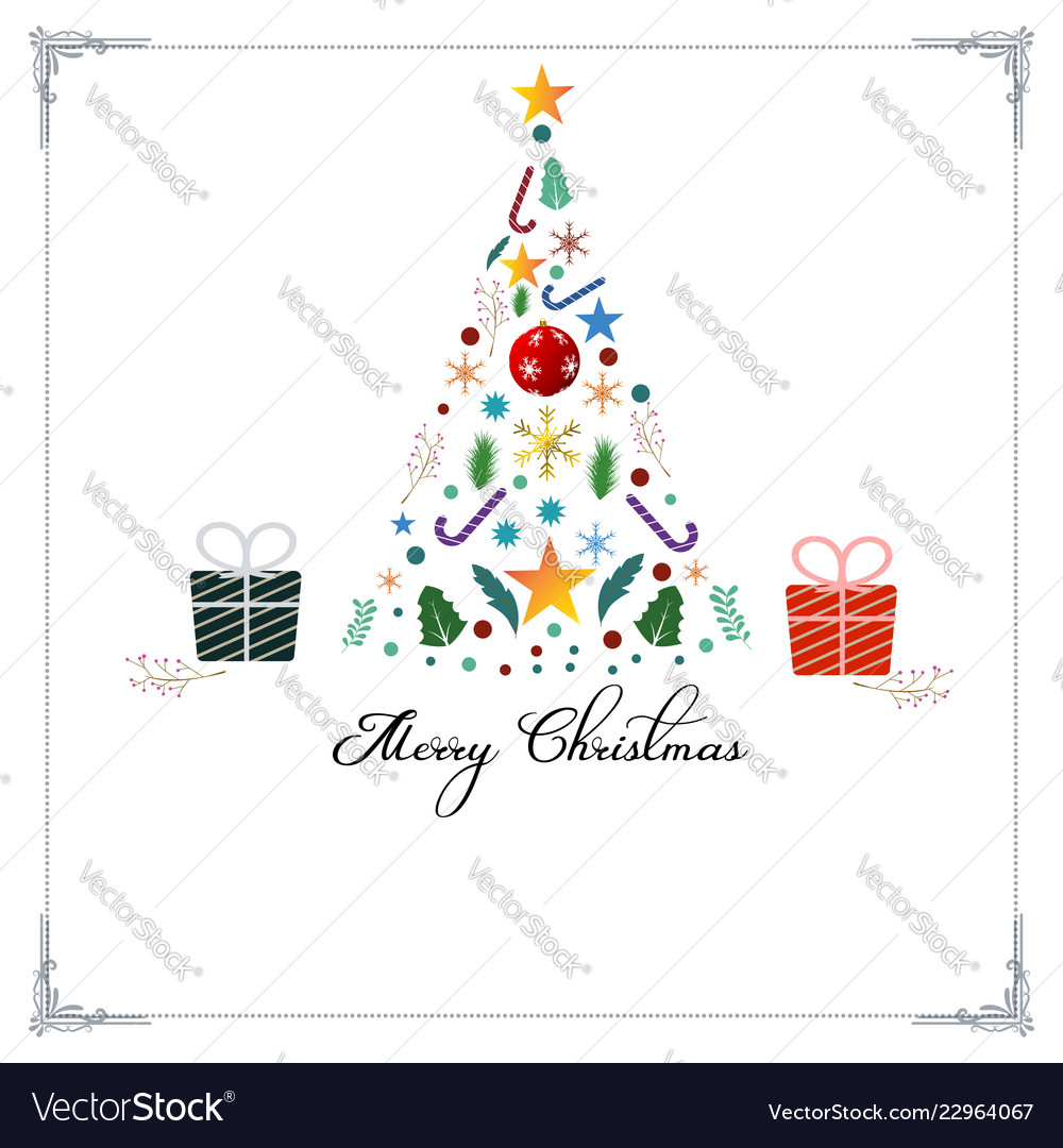 Merry christmas decorative vintage background for