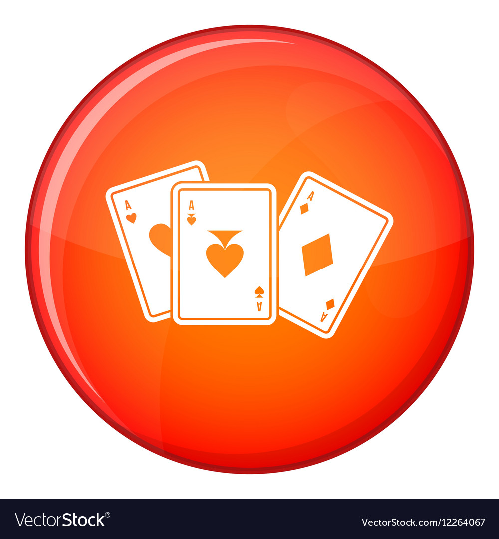 Playing cards icon flat style