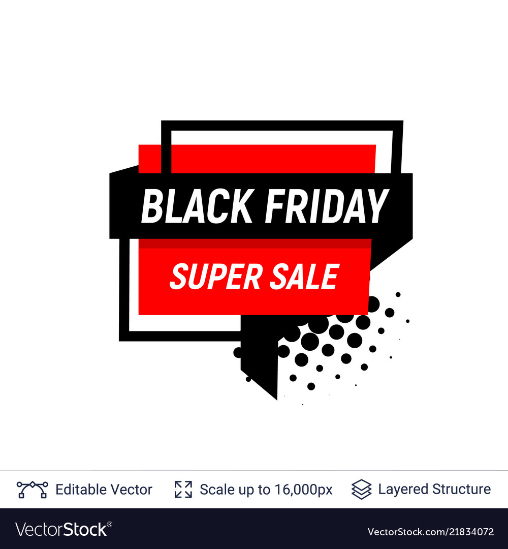 Black friday sale badge geometric shapes and text