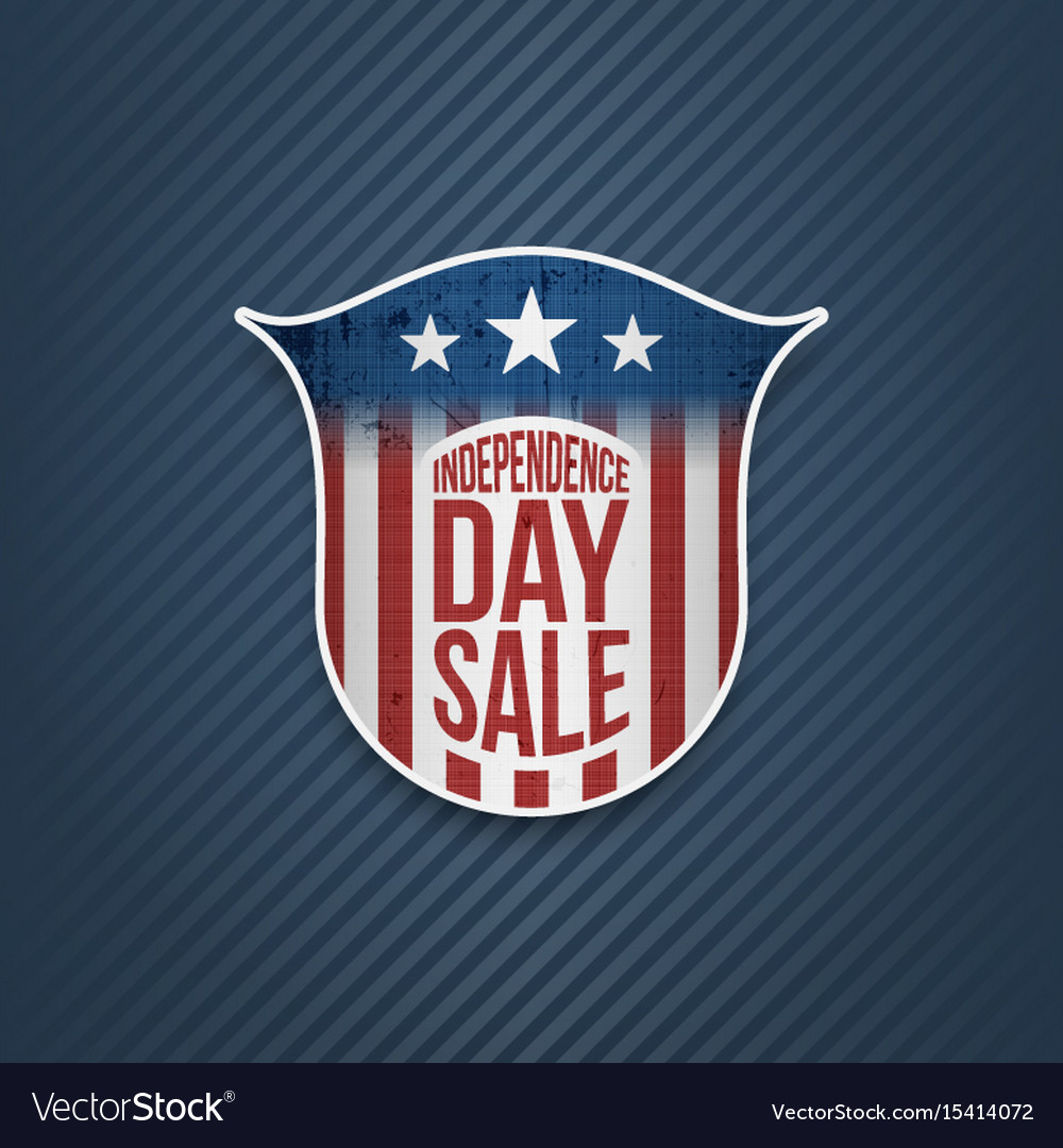 Independence day sale sign on blue background