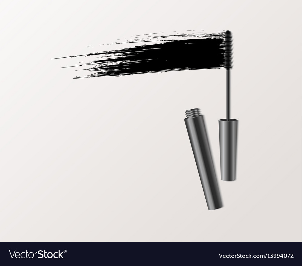 Mascara fashion banner clear template for