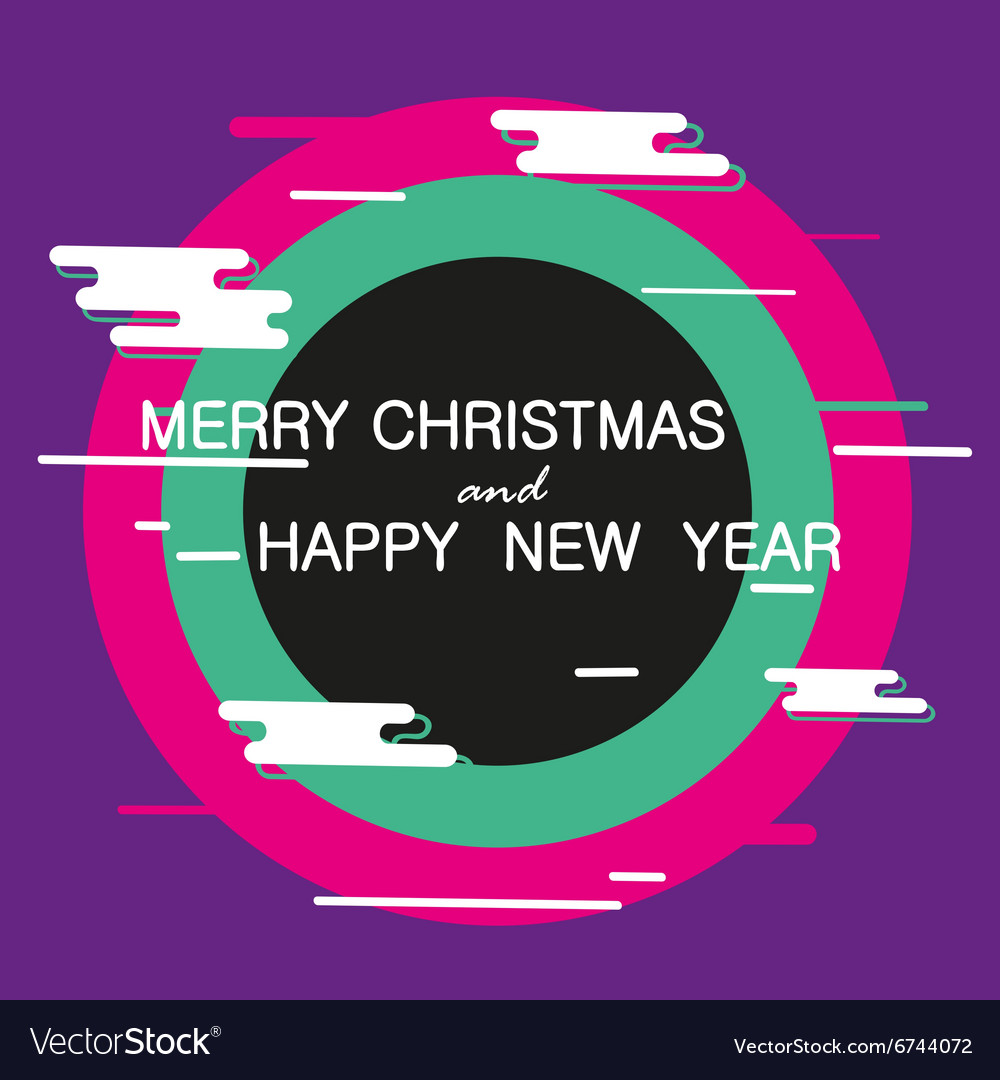 Merry Christmas and Happy New Year abstract banner