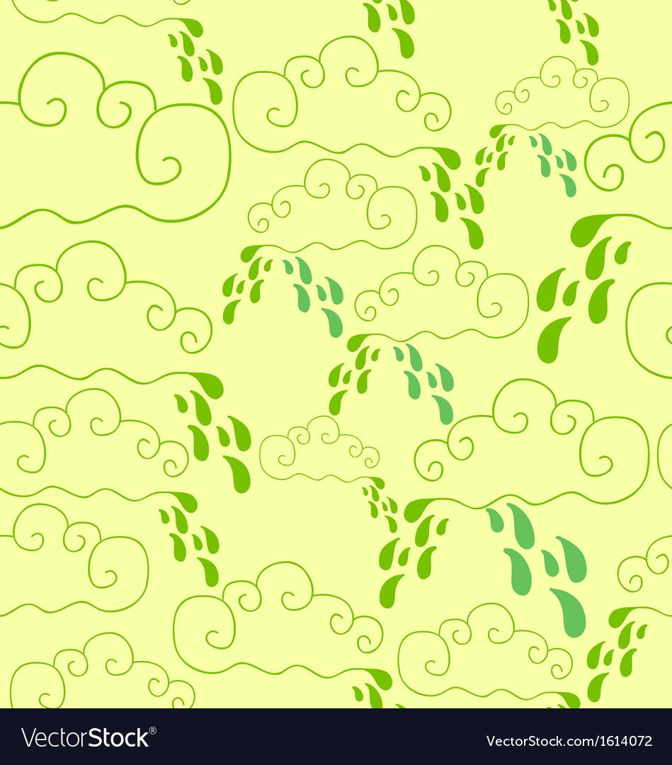 Seamless pattern of raining vector image