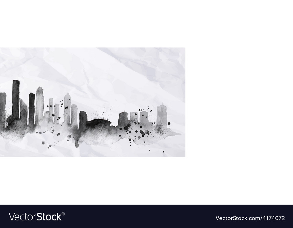Silhouette ink Seattle vector image