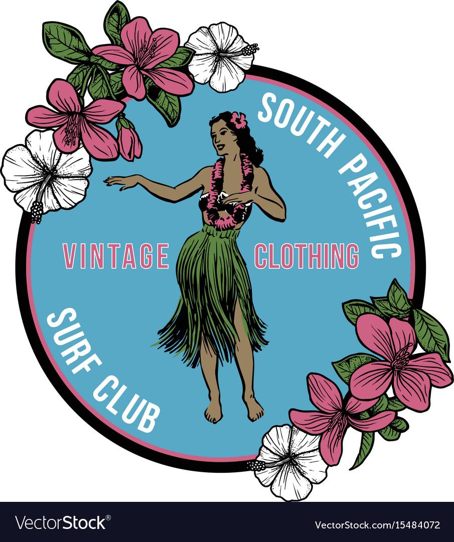 Vintage hawaiian hula badge