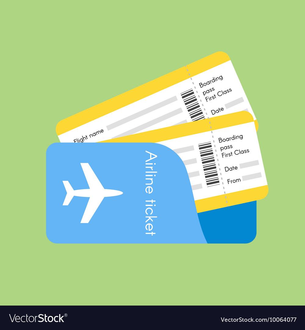 Airline tickets Royalty Free Vector Image - VectorStock