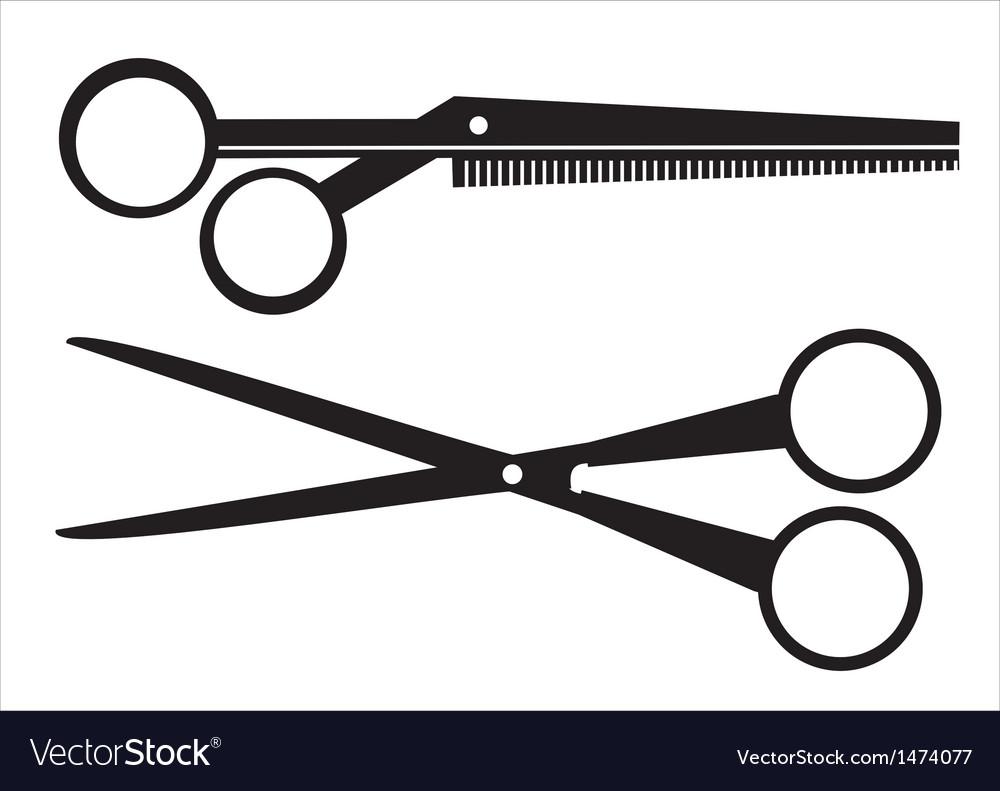 Black scissors vector image