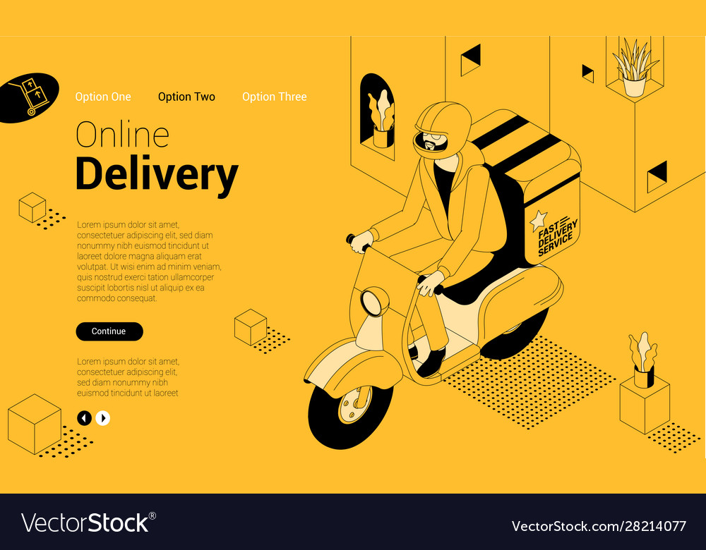 Express delivery isometric concept
