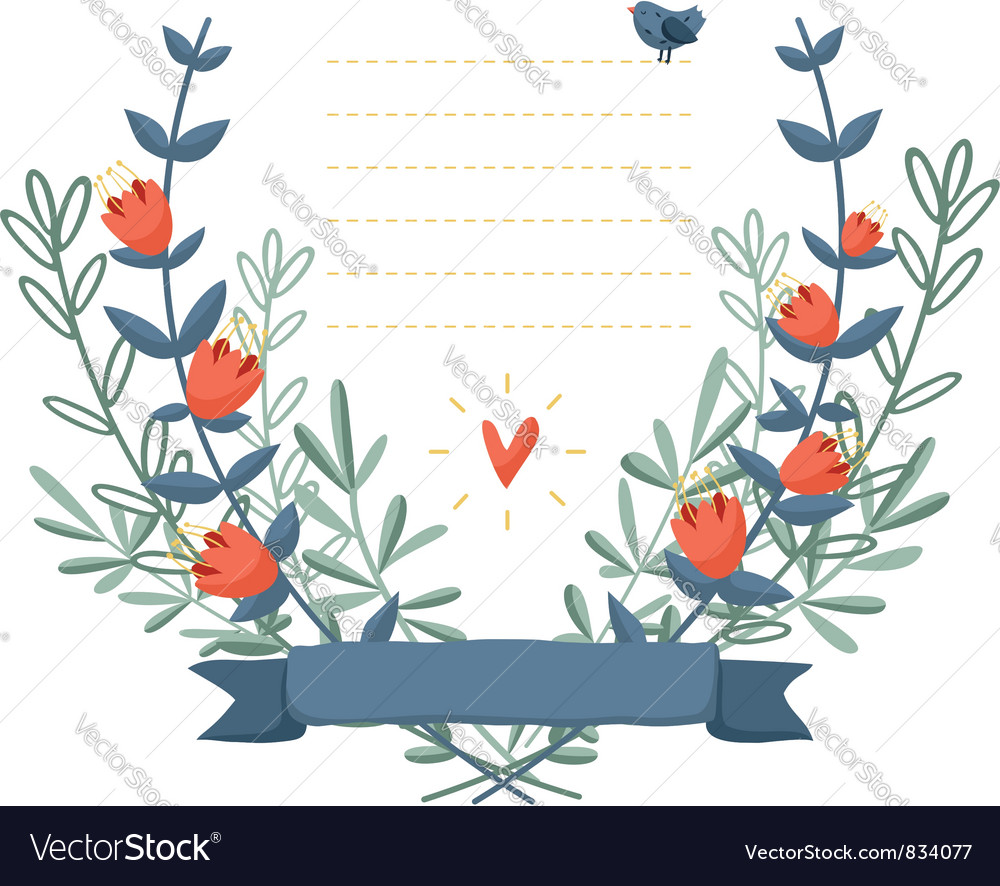 Flower frame background Royalty Free Vector Image