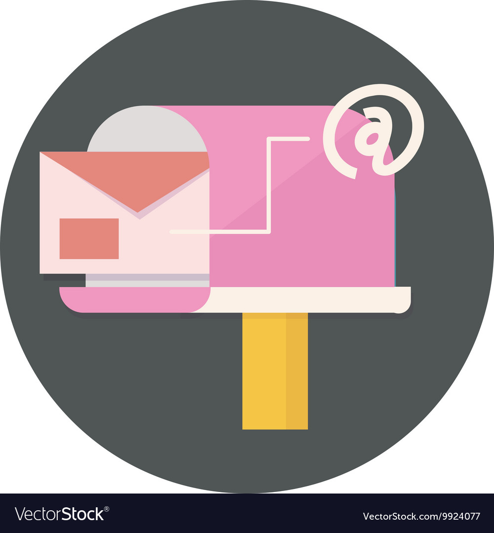 Mail and communication icon vector image