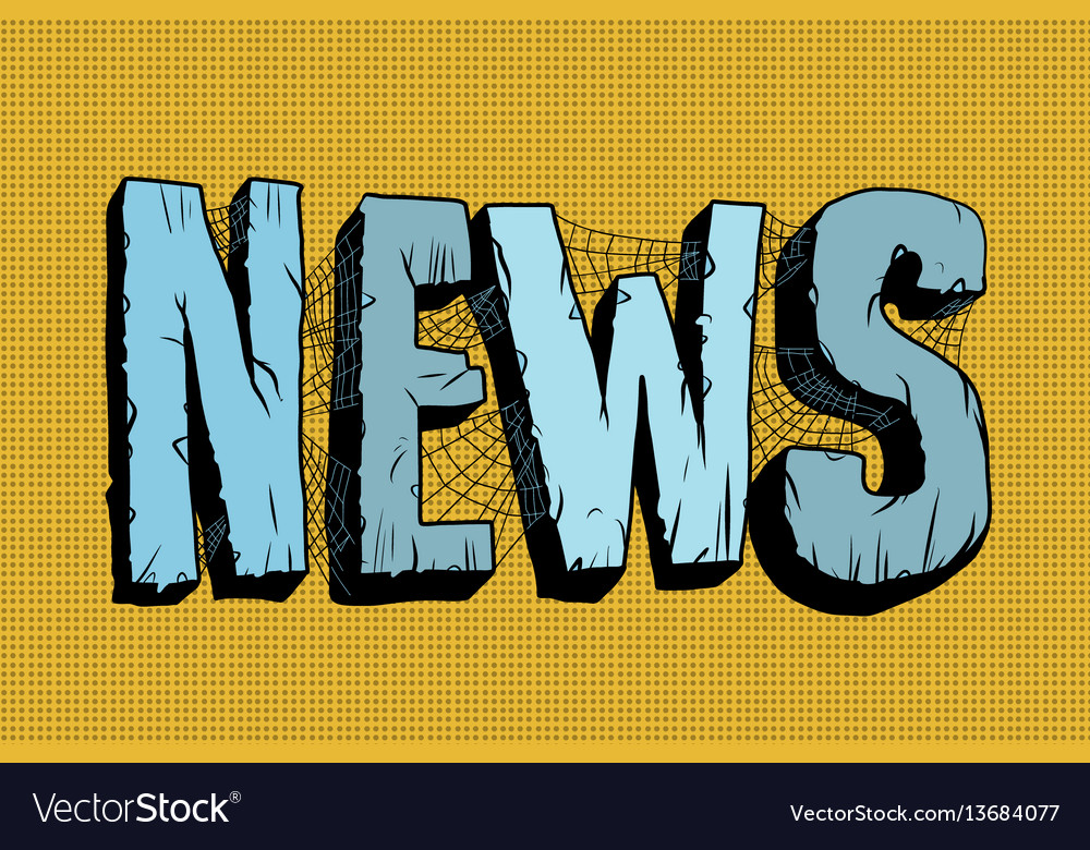 News in the mesh of spider webs vector image