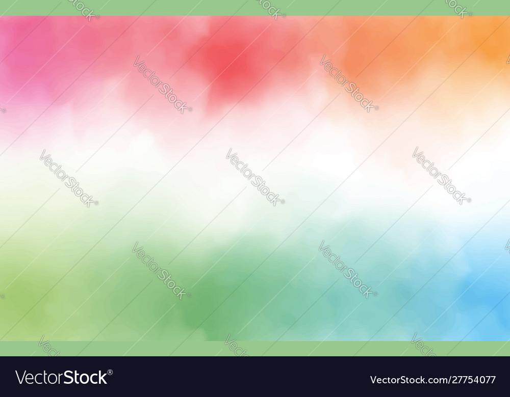Rainbow watercolor splash background with copy