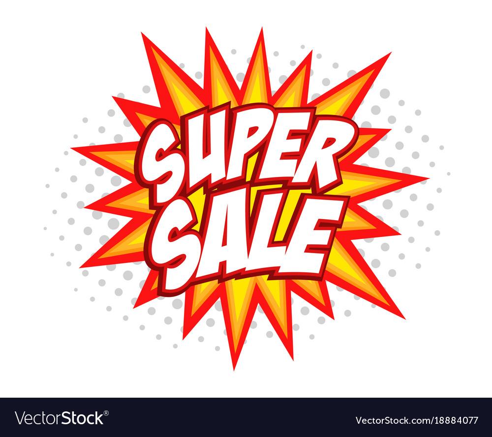 Super sale comic splash