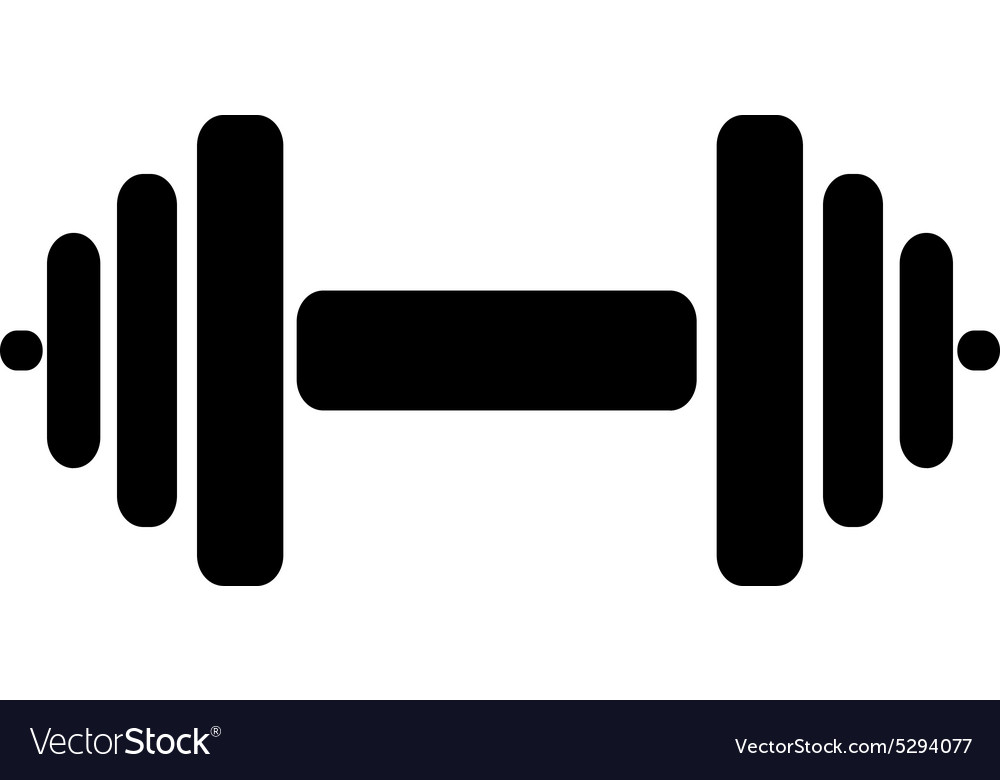 The dumbbell icon Barbell symbol Flat Royalty Free Vector