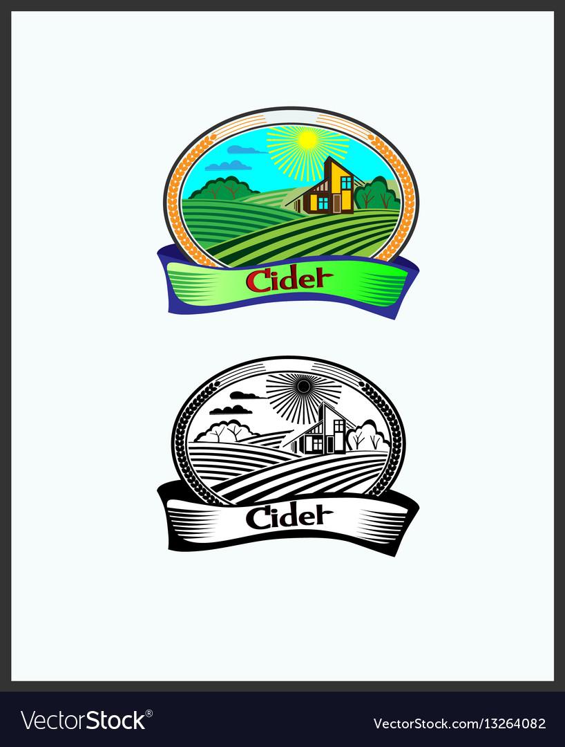 Banner cider beer vector image