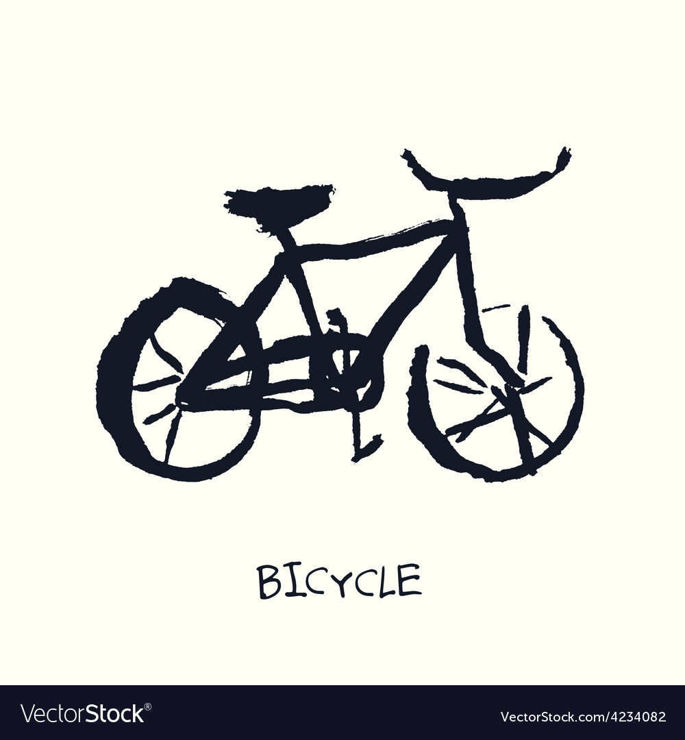 Bicycle hand drawn