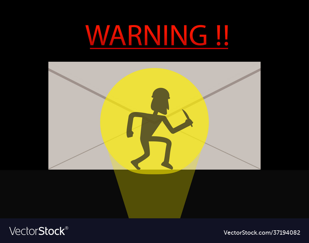 Detected thief in phishing mail