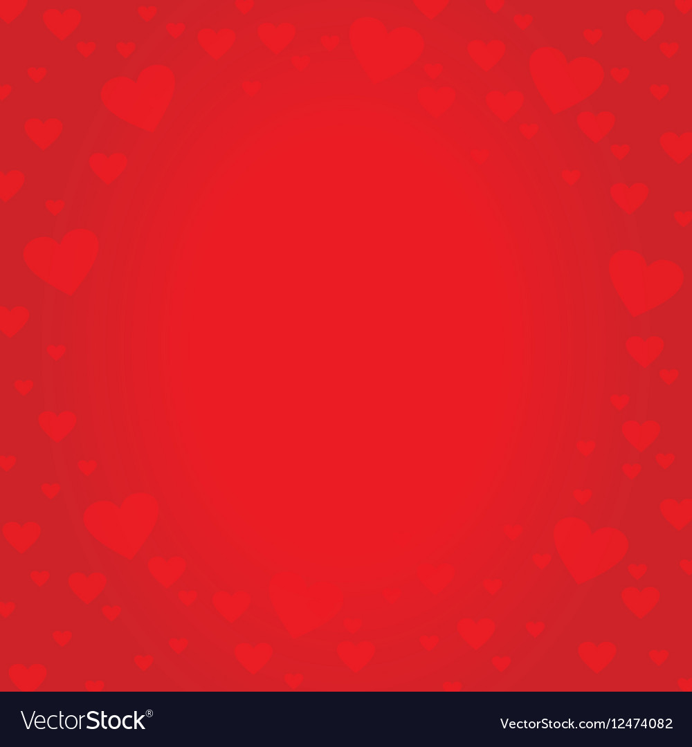 Frame border shaped from red heart on red