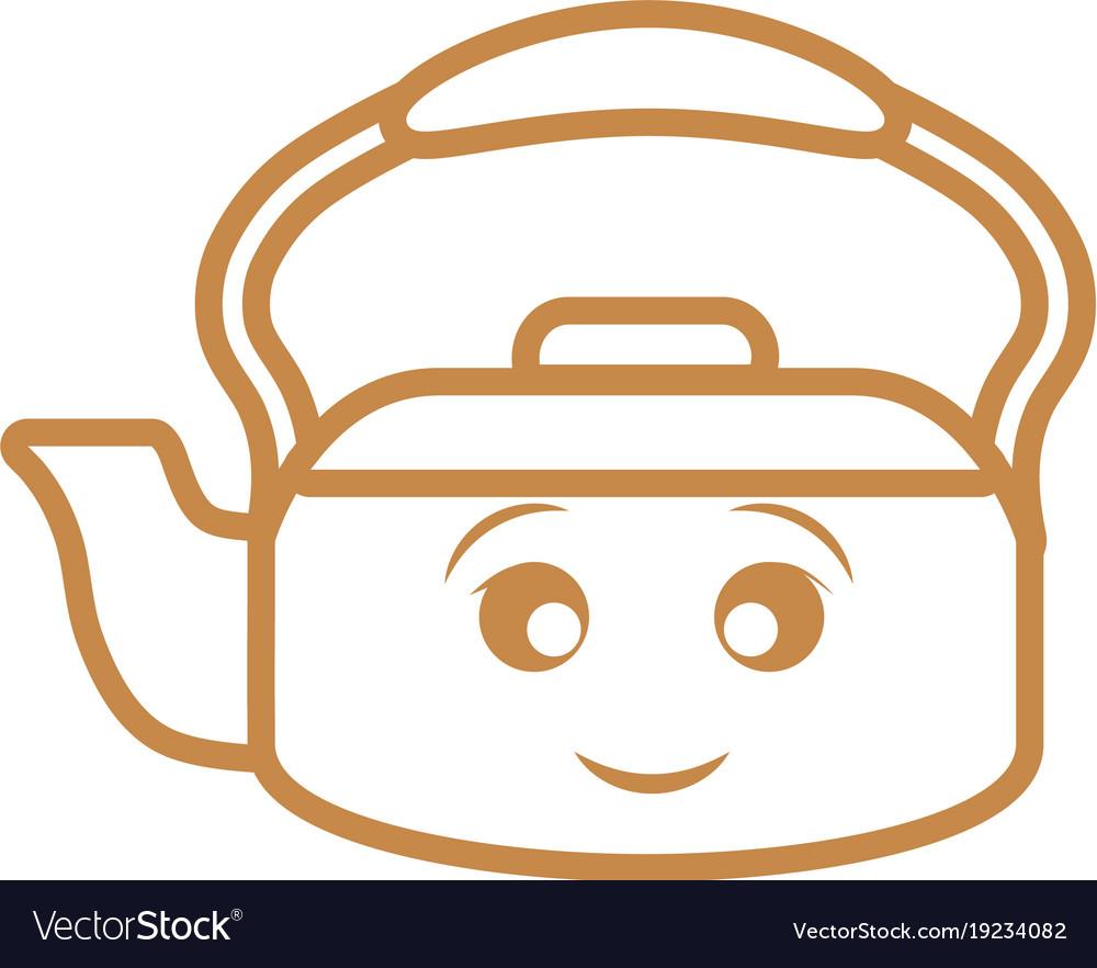 Kawaii kettle icon
