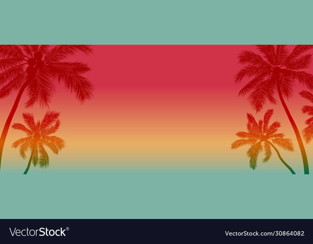 Summer background design coconut tree