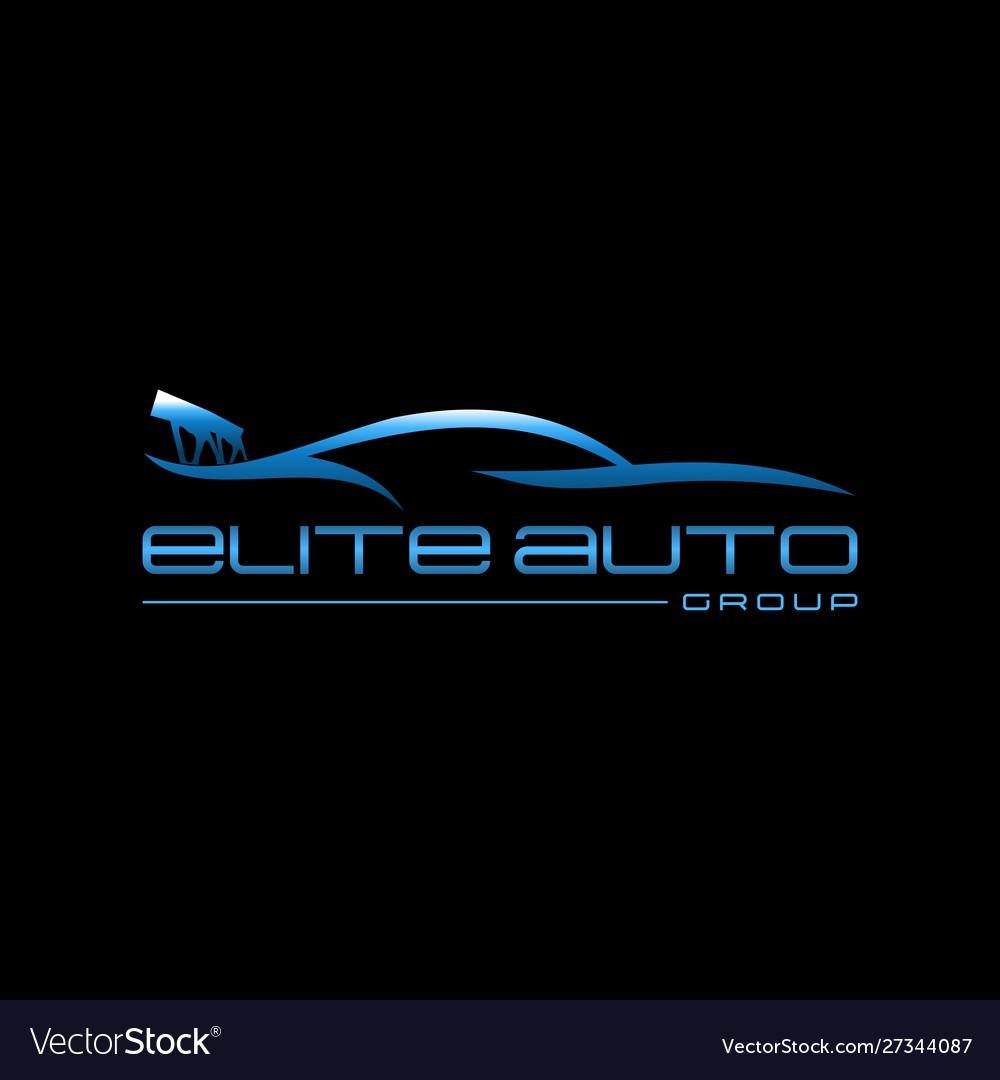 Auto Car Creative Modern Business Logo Royalty Free Vector